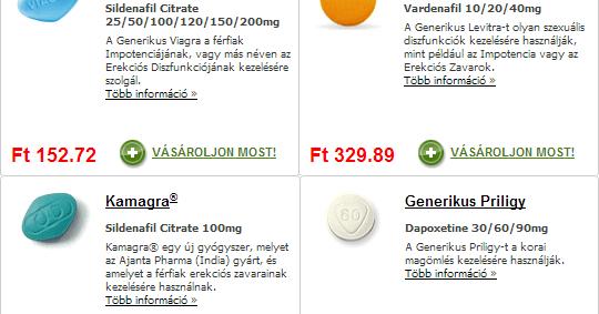 Generikus Levitra (Vardenafil 20/40 mg) ára, online rendelés recept nélkül